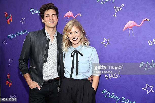 Musician Anthony Padilla and digital influencer Miel Bredouw attend the premiere of Lionsgate's Dirty 30 at ArcLight Hollywood on September 20 2016...