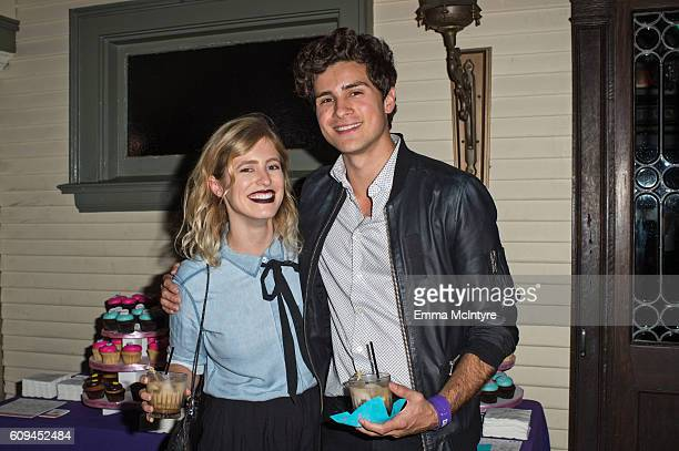 Musician Anthony Padilla and digital influencer Miel Bredouw attend the after party for the premiere of Lionsgate's 'Dirty 30' at ArcLight Hollywood...