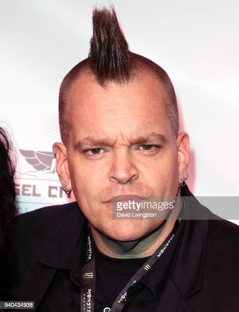 Musician Anthony Tiny Biuso attends the 6th Annual Rock Against MS benefit concert and award show at the Los Angeles Theatre on March 31 2018 in Los...