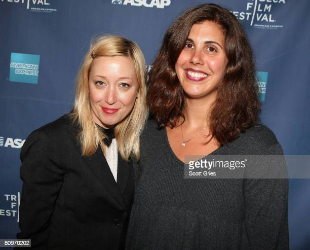 Musician Anya Marina and music supervisor Alex Patsavas pose at the Tribeca ASCAP Music Lounge held at the Canal Room during the 2008 Tribeca Film...