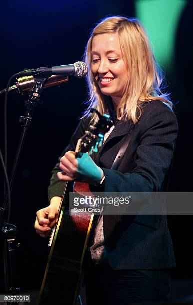 Musician Anya Marina performs at the Tribeca ASCAP Music Lounge held at the Canal Room during the 2008 Tribeca Film Festival on May 2, 2008 in New...