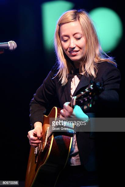 Musician Anya Marina performs at the Tribeca ASCAP Music Lounge held at the Canal Room during the 2008 Tribeca Film Festival on May 2 2008 in New...