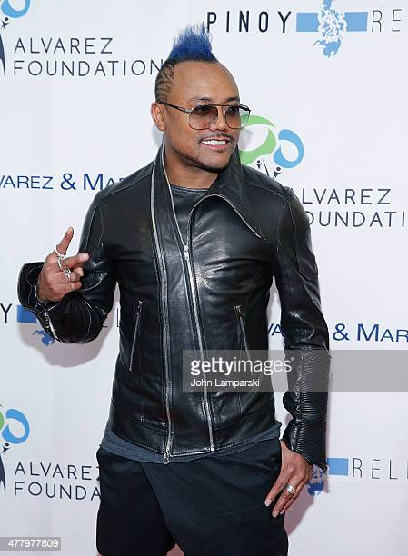 Musician apl. De.ap. Attends the Pinoy Relief Benefit concert at Madison Square Garden on March 11, 2014 in New York City.
