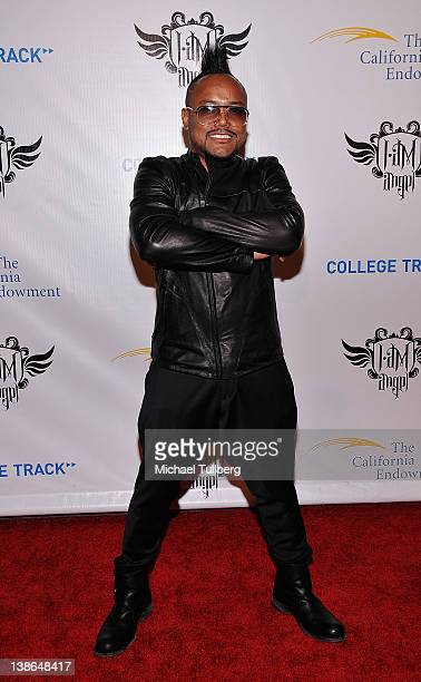 Musician apldeap arrives at william of the Black Eyed Peas' First Annual TRANS4M iamangel PreGRAMMY event to benefit the neighborhood of Boyle...