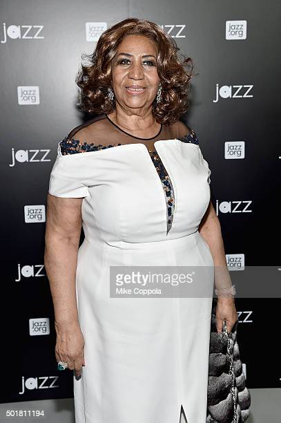 Musician Aretha Franklin attends the opening of the Mica and Ahmet Ertegun Atrium at Jazz at Lincoln Center on December 17 2015 in New York City