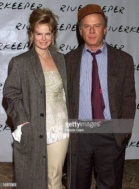 Musician Art Garfunkel and his wife Kim attend the Riverkeeper dinner April 22 2002 at Pier 60 of the Chelsea Piers in New York City