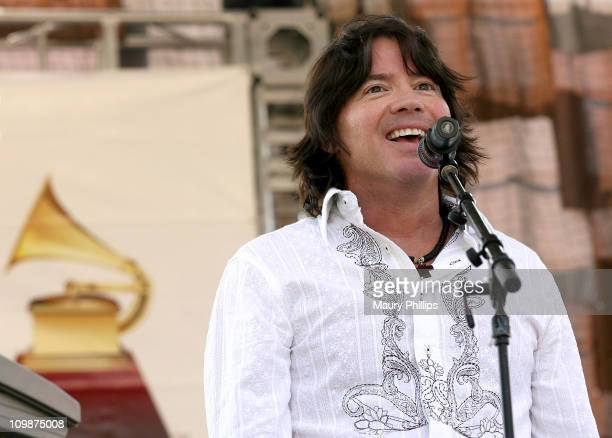 Musician Arthur Hanlon performs at the Latin Grammy Street Party on October 19 2008 in Los Angeles California