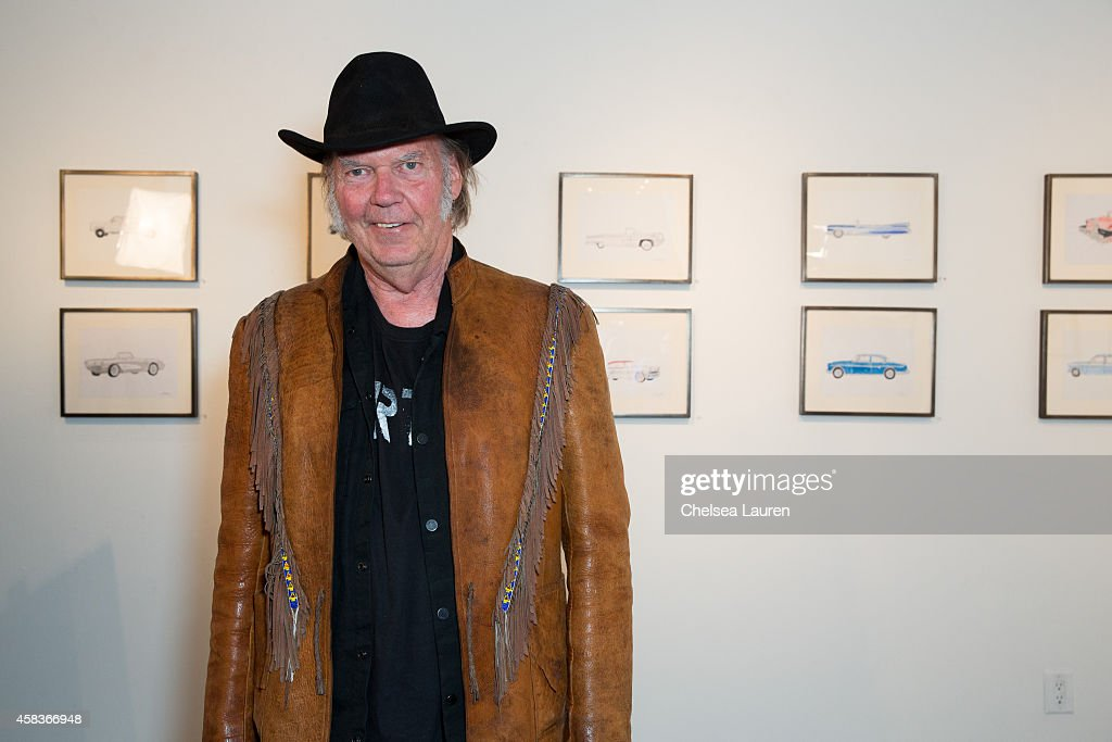 """Neil Young Opening Night Reception For """"Special Deluxe"""" Art Exhibition : News Photo"""