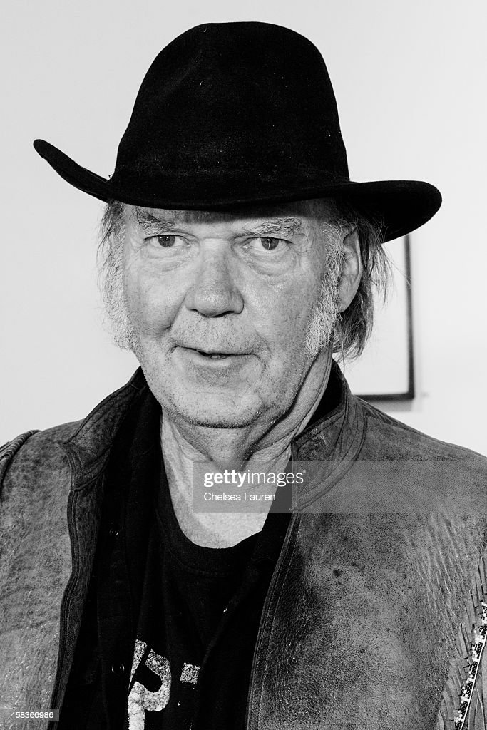 Musician / artist Neil Young attends his opening night reception for 'Special Deluxe' at Robert Berman Gallery on November 3, 2014 in Santa Monica, California.