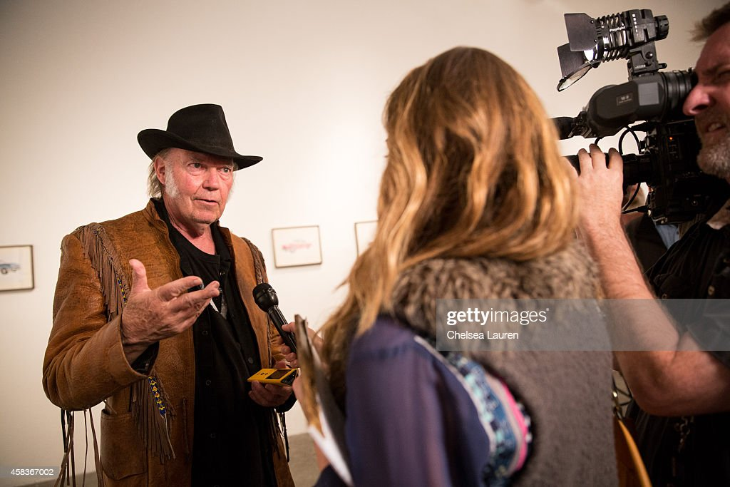 "Neil Young Opening Night Reception For ""Special Deluxe"" Art Exhibition : News Photo"