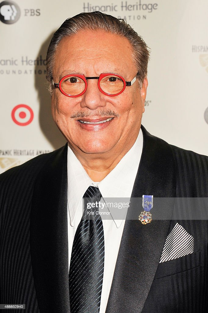 Musician Arturo Sandoval poses for a photo during the 2015 Hispanic Heritage Awards at the Warner Theatre on September 17, 2015 in Washington, DC.
