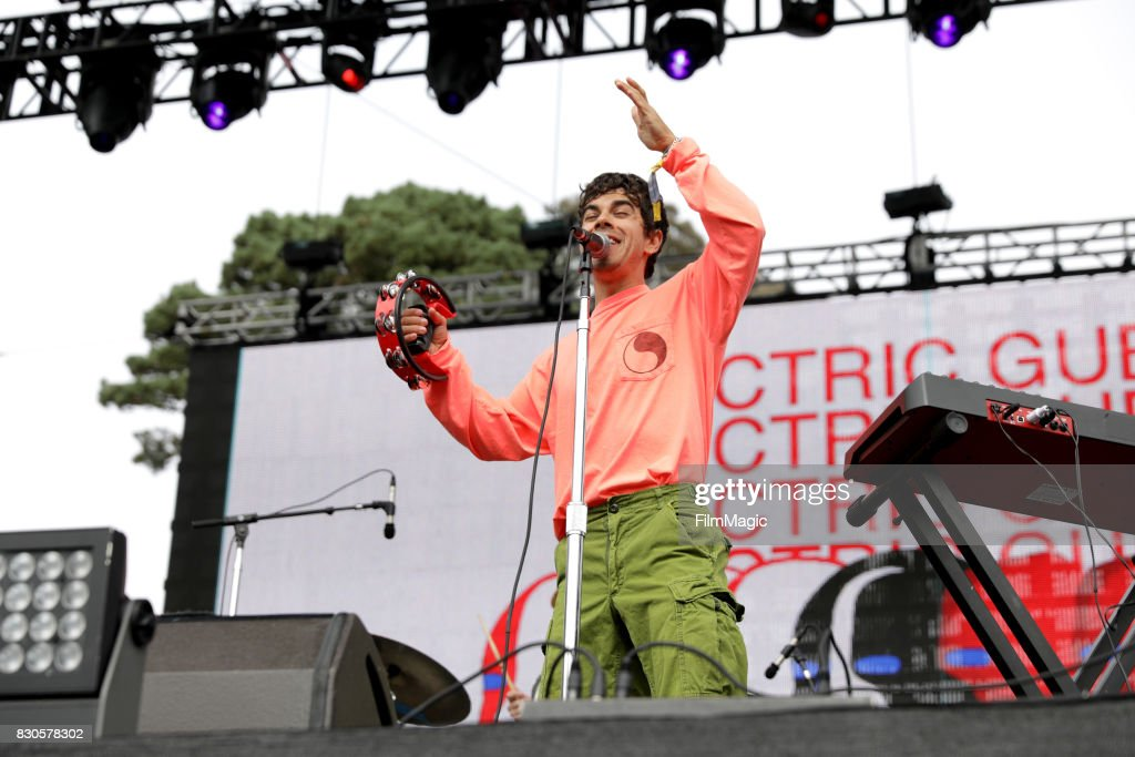 Musician Asa Taccone of Electric Guest performs on the Twin Peaks Stage during the 2017 Outside Lands Music And Arts Festival at Golden Gate Park on August 11, 2017 in San Francisco, California.