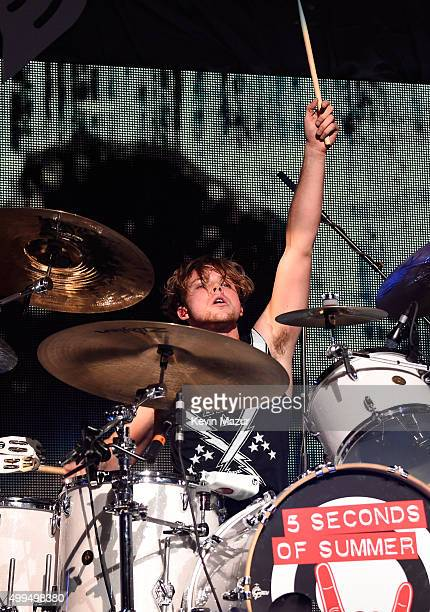 Musician Ashton Irwin of musical group 5 Seconds of Summer performs onstage during 1061 KISS FM's Jingle Ball 2015 presented by Capital One at...