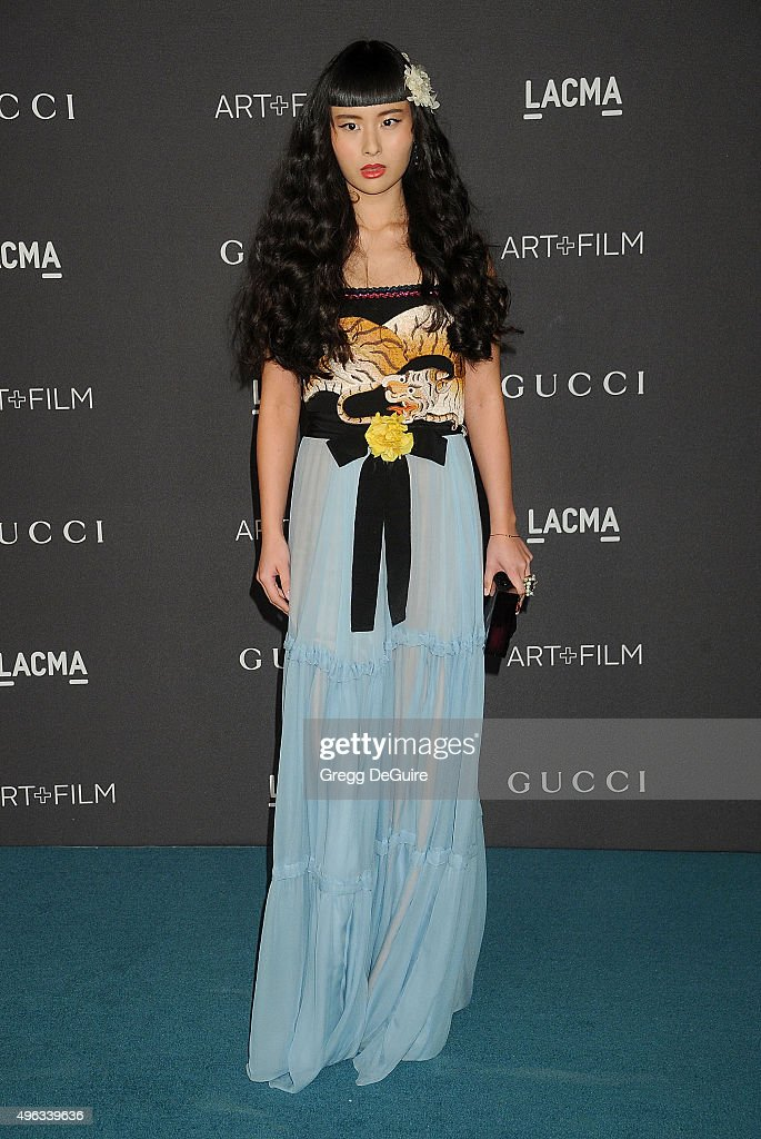 Musician Asia Chow arrives at the LACMA 2015 Art+Film Gala Honoring James Turrell And Alejandro G Inarritu, Presented By Gucci at LACMA on November 7, 2015 in Los Angeles, California.