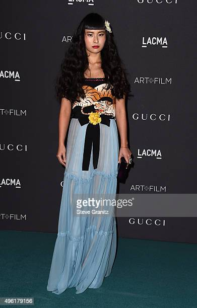 Musician Asia Chow wearing Gucci attends LACMA 2015 ArtFilm Gala Honoring James Turrell and Alejandro G Iñárritu Presented by Gucci at LACMA on...