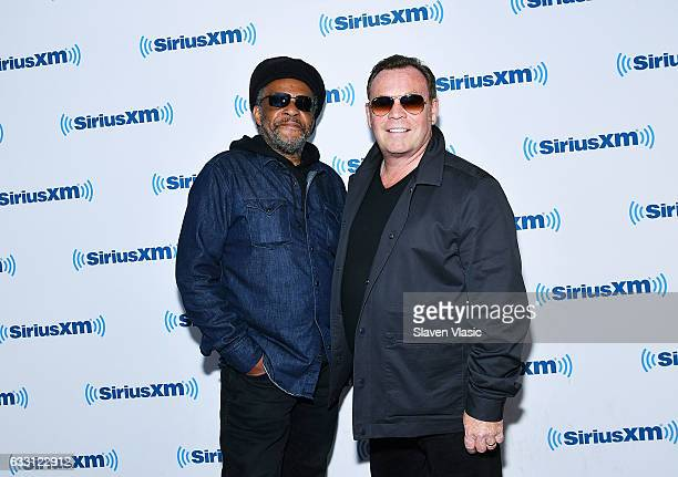 Musician Astro and singer/songwriter Ali Campbell of reggae/pop band 'UB40' visit SiriusXM Studios on January 30 2017 in New York City