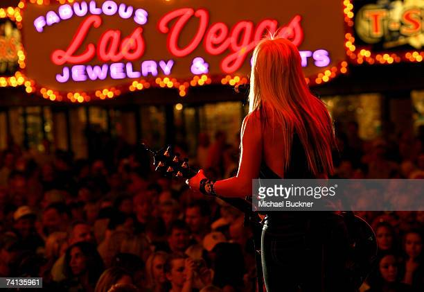 "Musician Aubrey Collins from the band ""Trick Pony"" performs onstage during day one of the Academy of Country Music All Star Concert at the Fremont..."
