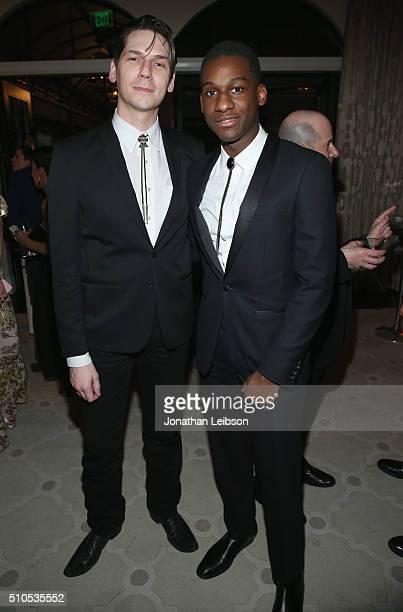 Musician Austin Jenkins and recording artist Leon Bridges attend Sony Music Entertainment 2016 PostGrammy Reception at Hotel Bel Air on February 15...