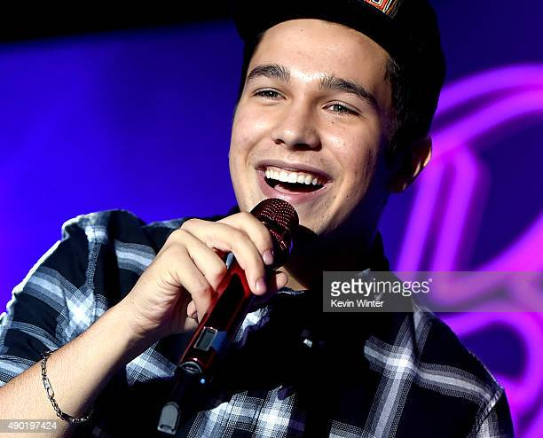 Musician Austin Mahone performs at the Barbie Rock 'n Royals Concert Experience benefiting VH1 Save The Music Foundation at the Hollywood Palladium...