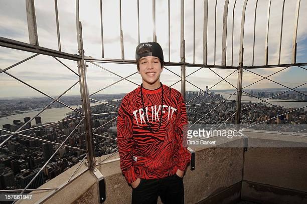 Musician Austin Mahone visits The Empire State Building on December 5 2012 in New York City
