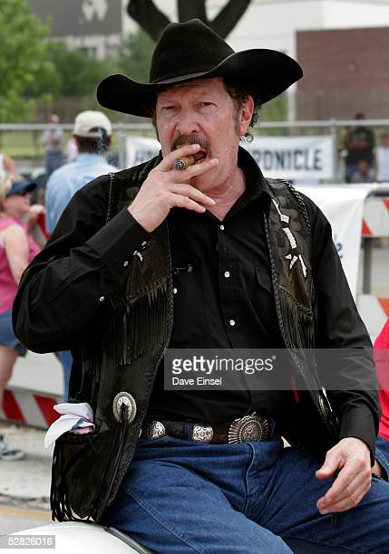 Musician, author and Texas gubernatorial hopeful Kinky Friedman rides during the Everyone's Art Car Parade May 14, 2005 in Houston, Texas. Friedman...