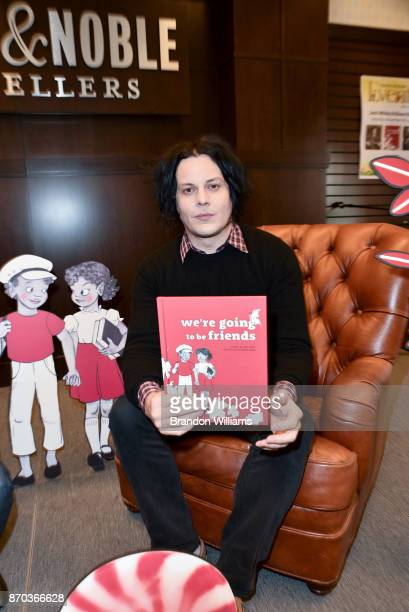 Musician / author Jack White attends the signing for his book 'We're Going to be Friends' at Barnes Noble at The Grove on November 4 2017 in Los...