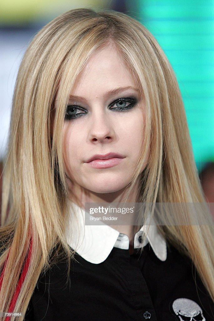 Musician Avril Lavigne appears onstage during MTV's Total Request Live at the MTV Times Square Studios on April 16, 2007 in New York City.