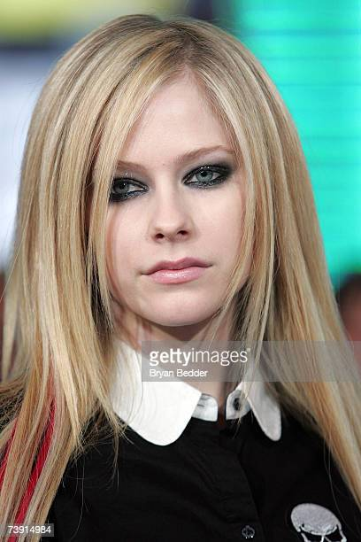 Musician Avril Lavigne appears onstage during MTV's Total Request Live at the MTV Times Square Studios on April 16 2007 in New York City