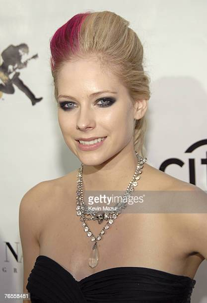 Musician Avril Lavigne arrives at Conde Nast Media Group's 4th Annual Fashion Rocks at Radio City on September 6 2007 in New York City