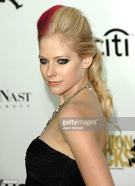 Musician Avril Lavigne attends the Conde Nast Media Groups 4th Annual Fashion Rocks on September 6 2007 in New York City