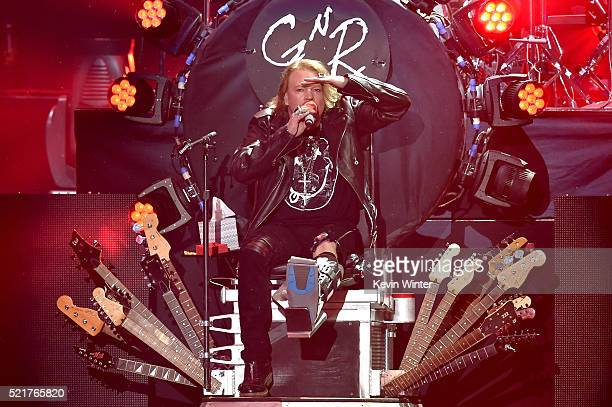 Musician Axl Rose of Guns N' Roses performs onstage during day 2 of the 2016 Coachella Valley Music & Arts Festival Weekend 1 at the Empire Polo Club...