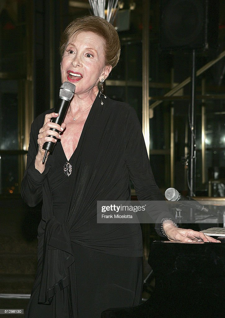Musician Barbara Carroll at the surprise 80th birthday party for legendary musician Bobby Short, September 12, 2004 at the Rainbow Room in New York City.