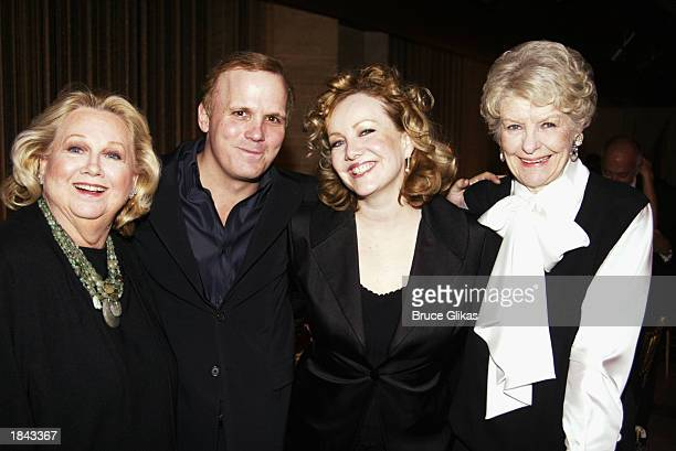 Musician Barbara Cook director Scott Ellis choreographer Susan Stroman and actress Elaine Stritch attend the New York City Opera A Little Night Music...