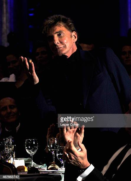 Musician Barry Manilow attends the PreGRAMMY Gala and Salute to Industry Icons honoring Martin Bandier at The Beverly Hilton Hotel on February 7 2015...