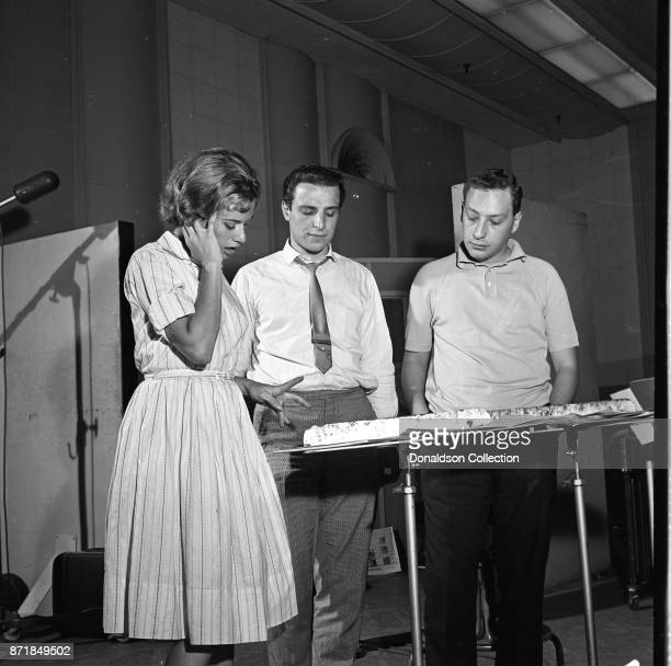 Musician Barry Mann records for JDS Records with Carole King and Alan Lorber on July 18 1959 in New York