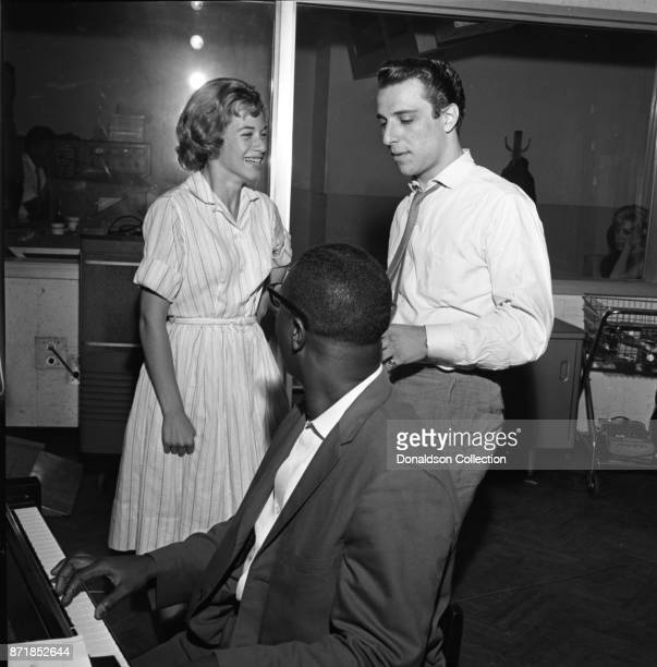 Musician Barry Mann records for JDS Records with Carole King on July 18 1959 in New York