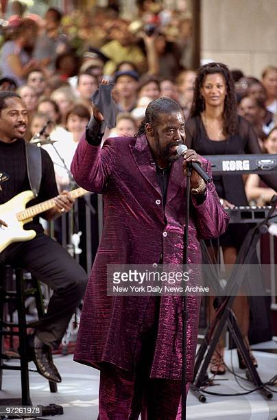 Musician Barry White performs at Rockefeller Center on the 'Today' show