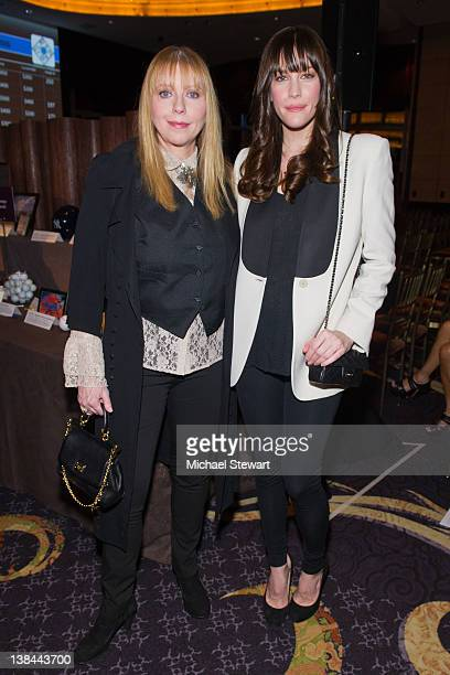 Musician Bebe Buell and actress Liv Tyler attend the 2012 Room to Grow fundraising gala at the Mandarin Oriental Hotel on February 6 2012 in New York...