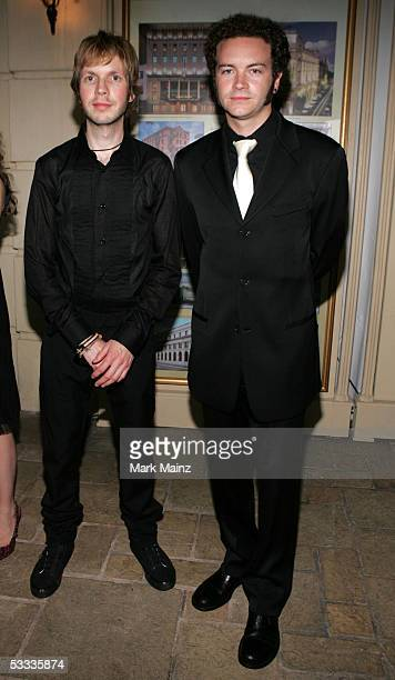 Musician Beck and actor Danny Masterson pose at the Church of Scientology Celebrity Centre 36th Anniversary Gala on August 6 2005 in Hollywood...