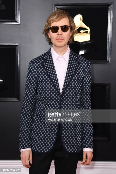 Musician Beck arrives for the 61st Annual Grammy Awards on February 10 in Los Angeles.