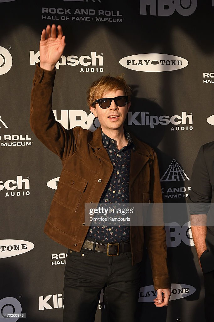 Musician Beck attends the 30th Annual Rock And Roll Hall Of Fame Induction Ceremony at Public Hall on April 18, 2015 in Cleveland, Ohio.