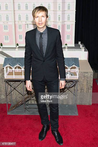 Musician Beck attends The Grand Budapest Hotel premiere at Alice Tully Hall on February 26 2014 in New York City