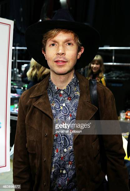 Musician Beck attends the MusiCares Double Platinum Talent Gift Lounge with Altec Lansing RTA Denim JB Britches and Infinite Love at MusiCares Person...