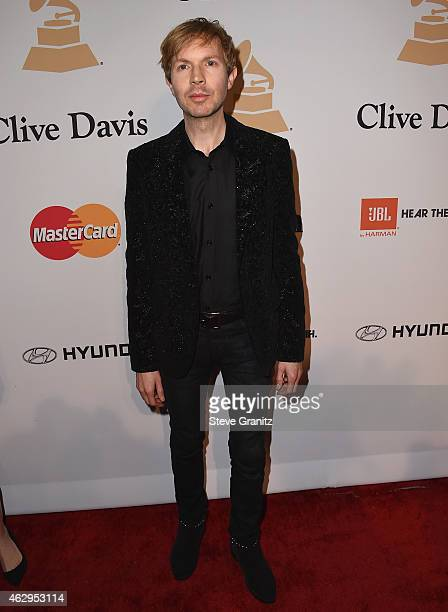 Musician Beck attends the PreGRAMMY Gala and Salute To Industry Icons honoring Martin Bandier on February 7 2015 in Los Angeles California