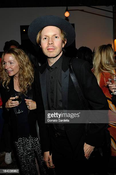 Musician Beck Hansen attends Isabel Marant Milla Jovovich BBQ party to celebrate the 1st Year of he LA Shop at Isabel Marant on October 10 2013 in...