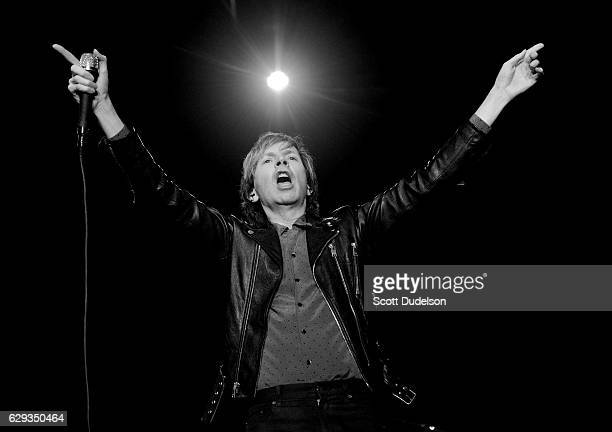 Musician Beck performs onstage during KROQ's Almost Acoustic Christmas at The Forum on December 11 2016 in Inglewood California