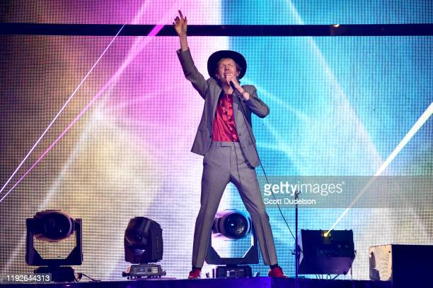 Musician Beck performs onstage during the KROQ Absolut Almost Acoustic Christmas 2019 at Honda Center on December 07 2019 in Anaheim California