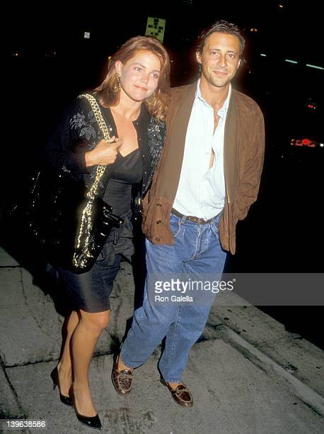 Musician Belinda Carlisle and husband Morgan Mason on June 3 1987 dine at Spago in West Hollywood California