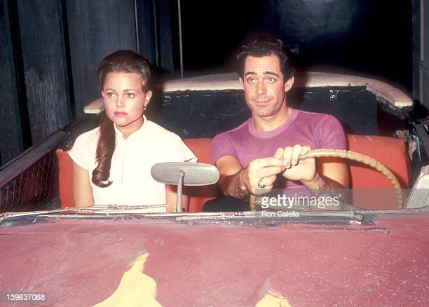 Musician Belinda Carlisle of The GoGo's and actor Barry Williams rehearse for 'Grease' on May 23 1983 at Long Beach Civic Light Opera in Long Beach...