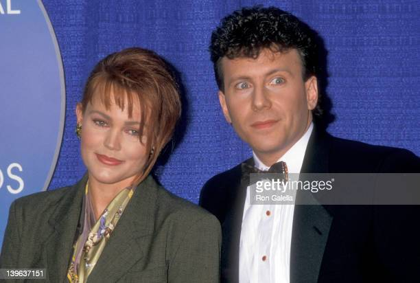 Musician Belinda Carlisle of The GoGo's and actor Paul Reiser attend the Ninth Annual National CableACE Awards on January 24 1988 at the Wiltern...